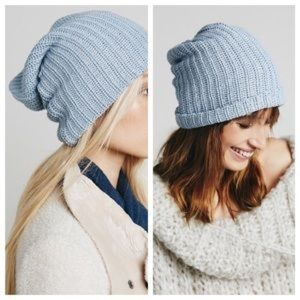 Free People Light Blue Capsule Slouchy Beanie